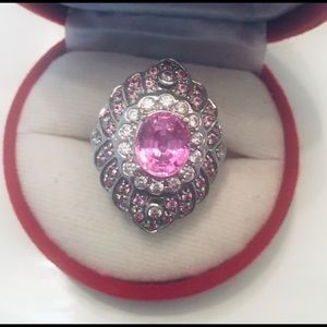 Jewelry - Pink Topaz Sterling Silver Ring
